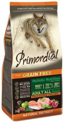 Сухой корм для собак Primordial Grain Free Adult All, курица, лосось, 12кг