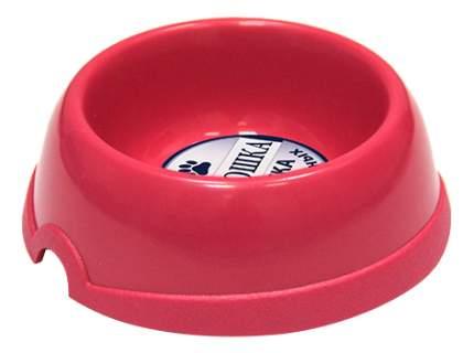 Одинарная миска для кошек Хорошка, пластик, розовый, 0.2 л