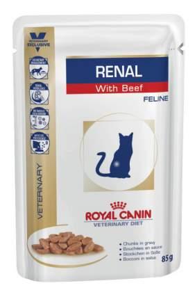 Влажный корм для кошек ROYAL CANIN Vet Diet Renal, говядина, 12шт, 85г