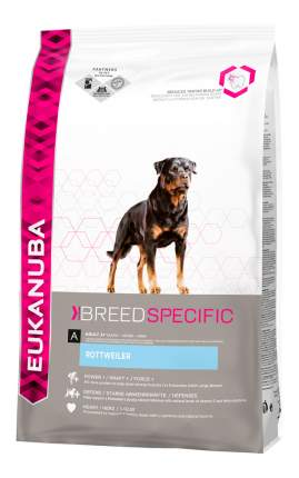Сухой корм для собак Eukanuba Adult Breed Specific, ротвейлер, индейка, птица, 12кг