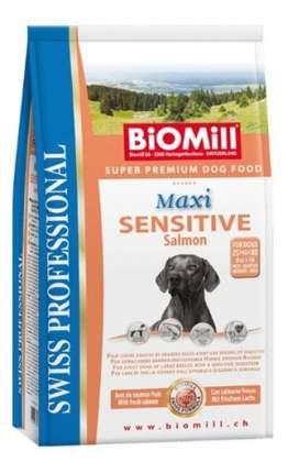 Сухой корм для собак BIOMILL Swiss Professional Maxi Sensitive Salmon, лосось, 12кг