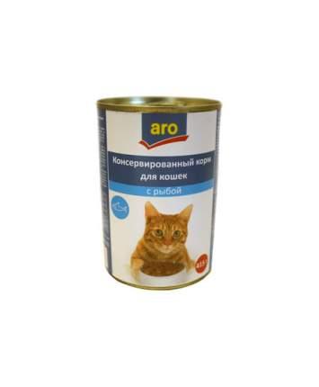 Консервы для кошек ARO, с рыбой в соусе, 415г