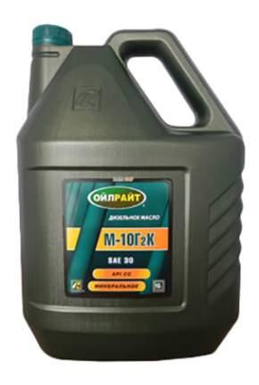 Моторное масло Oilright М-10Г2К SAE 30 10л