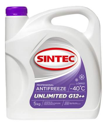 Антифриз SINTEC красно-фиолетовый готовый антифриз 5кг