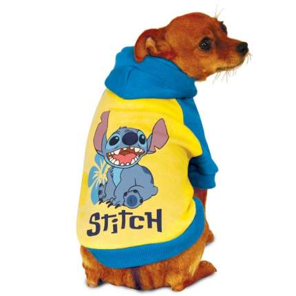 Толстовка для собак Triol Stitch размер M унисекс, желтый, синий, длина спины 28 см