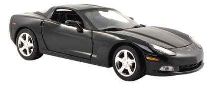 Коллекционная модель MotorMax 2005 Corvette C6 черная 1:24
