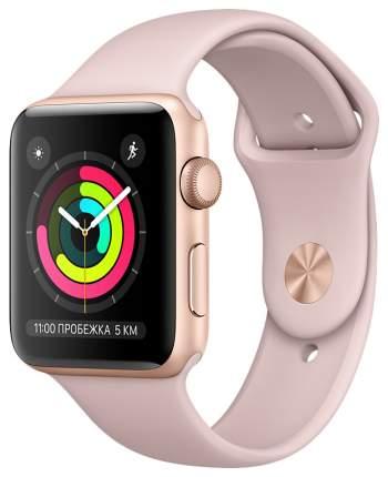 Смарт-часы Apple Watch Series 3 38mm Gold Al/PinkSand Band (MQKW2RU/A)