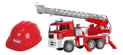 Машина спецслужбы Bruder Пожарная машина MAN + каска красная