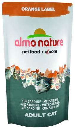Сухой корм для кошек Almo Nature Orange Label, для стерилизованных, рыба, 0,75кг