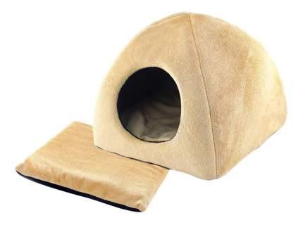 Домик для кошек ZooM PLUSH Beige бежевый 36х36х35 с подушкой