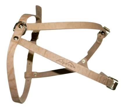 Шлейка для собак Аркон Стандарт кожаная, размер 35-57 см x 12 мм, цвет натуральный
