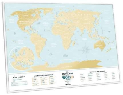 Скретч-карта 1DEA.me Travel Map Holiday Lagoon World