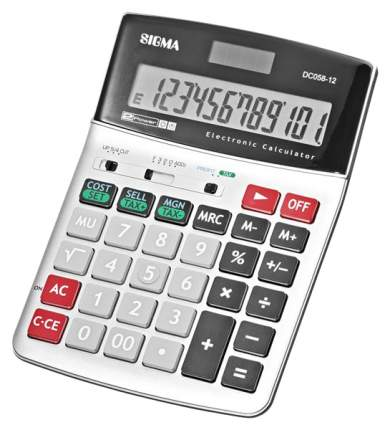 Калькулятор Sigma DC058