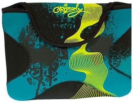 """Чехол для ноутбука 10"""" Grizzly НЧ-1374 зеленый/синий"""