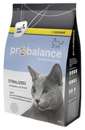 Сухой корм для кошек ProBalance Sterilized, для стерилизованных, курица, 0,4кг