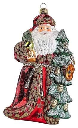 Елочная игрушка Mister Christmas Лесной Дед Мороз GW-10 Красный, зеленый