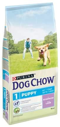 Корм для собак Dog Chow Puppy, Рис, ягненок, 1шт, 14кг