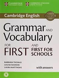 Gram and Vocabulary for First/First Sch Bk w/ans + Aud