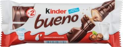 Шоколадный батончик bueno Kinder с молочно-ореховой начинкой 43 г