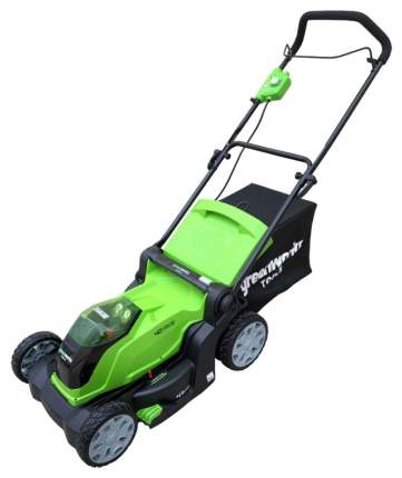 Аккумуляторная газонокосилка GreenWorks G-MAX 40V