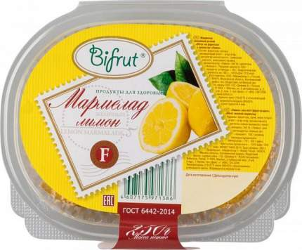 Мармелад желейный Bifrut лимон на фруктозе 250 г