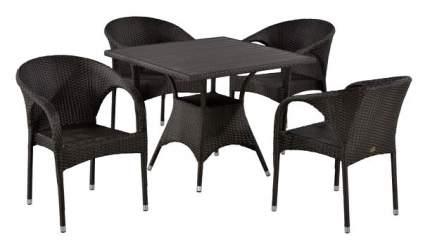 Комплект мебели Afina Garden T190BD/Y290B-W52 Brown (4+1)