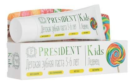 Детская зубная паста President Леденец, 3- 6 лет, 50 мл