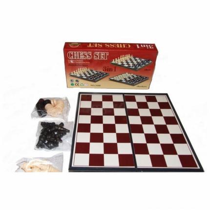 Настольная игра 3 в 1 шахматы Shantou Gepai ER8611