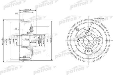 Барабан тормозной PATRON PDR1146