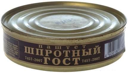 Паштет Балтийский шпротный из кильки и салаки горячего копчения или подсушенный 160 г