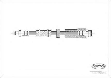 Шланг тормозной Corteco 19025840