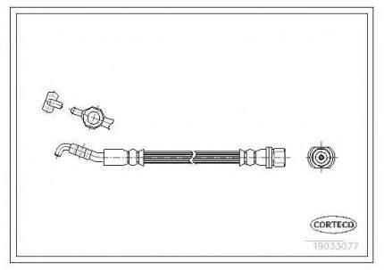 Шланг тормозной системы Corteco 19033077