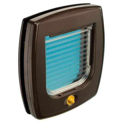 Дверца для животных Ferplast Swing 3 Basic, коричневая, 14,5х14,8см