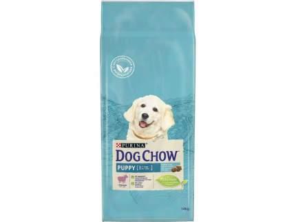 Сухой корм для щенков Dog Chow Puppy, ягненок и рис, 14кг