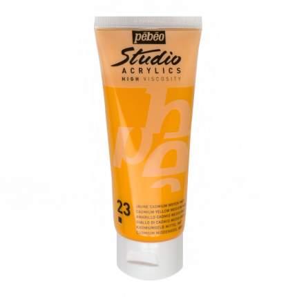 Акриловая краска Pebeo Studio Acrylics 831-023 кадмий желтый 100 мл