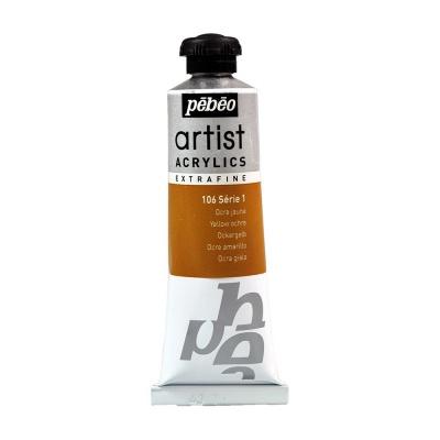 Акриловая краска Pebeo Artist Acrylics extra fine №1 охра желтая 37 мл