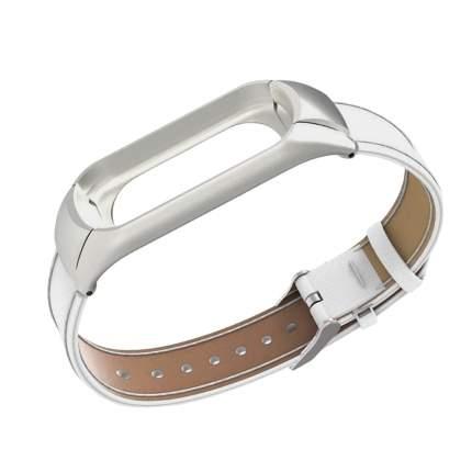 Ремешок кожаный для Mi Band 4 ( 3 ) Leather Strap White