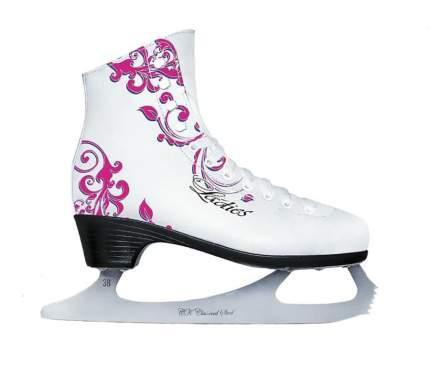 Коньки фигурные Спортивная Коллекция Ladies Lux Tricot, белый, 42 RU