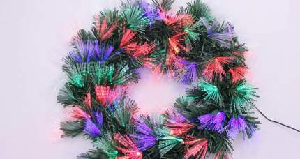 Венок новогодний Edelman 1051986 зимняя радуга 50 см