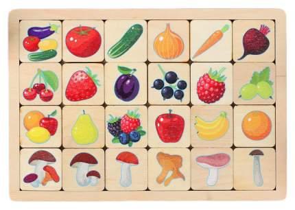 """Игра развивающая деревянная """"Овощи, фрукты, ягоды, грибы"""" Десятое Королевство"""