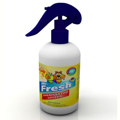 Ликвидатор запаха для клеток птиц и грызунов Mr.Fresh Expert 2в1, спрей, 200мл