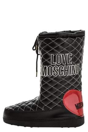 Дутики женские Love Moschino JA24182G08JA100A черные 39 IT