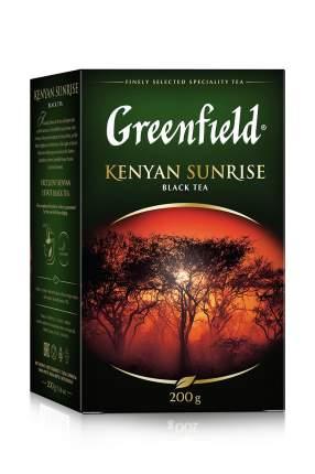 Чай черный Greenfield листовой kenyan sunrise 200 г