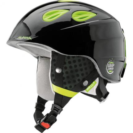 Горнолыжный шлем Alpina Grap 2.0 JR 2019, черный/желтый, M