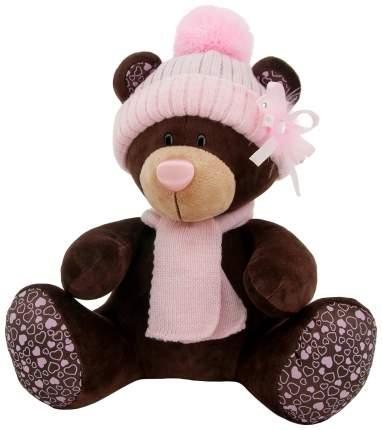 Мягкая игрушка Milk, сидячая, в розовой шапке, 25 см Orange