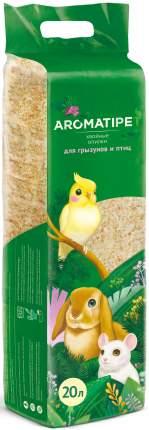 Подстилка в клетку для грызунов и птиц AromatiPet, опилки хвойные, 20л