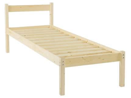 Односпальная кровать Green Mebel Кровать одноярусная Т1 800 Х 2000 мм, Натуральный
