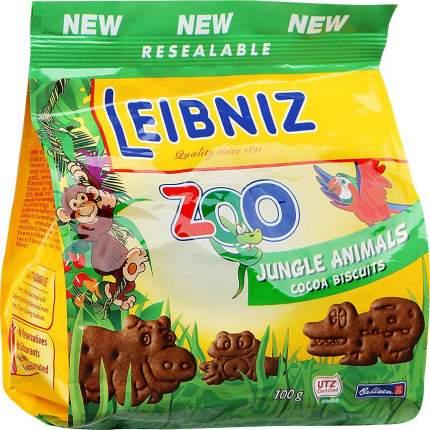Печенье Leibniz Zoo Jungle Animals Biscuits какао 100г