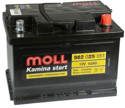 Аккумулятор MOLL Kamina Start 62RS 510A 242x175x175 562025051