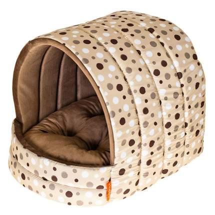 Домик Happy Puppy Горошек цвет бежевый для собак (38 х 35 см, Бежевый)